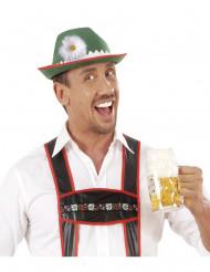 Chapéu bávaro com margarida adulto