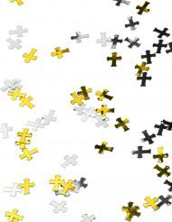 Confetes Cruzes prateado e dourado