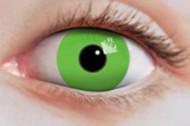 Lentes fantasia verde fluo
