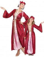Disfarce casal rainha medieval mãe e filha