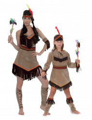 Disfarce casal índia para mãe e filha