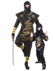 Disfarce casal ninja para pai e filho
