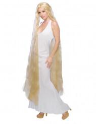 Peruca de princesa com cabelos longos