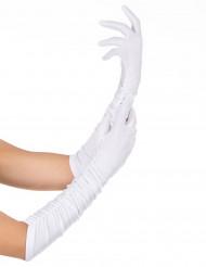 Luvas cor branca para adulto
