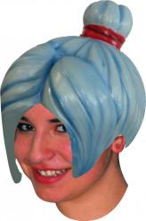 Peruca látex manga azul adulto