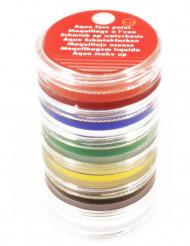 Torre de maquilhagem à base de água 6 cores