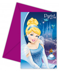 6 Convites Cinderela™ com envelopes