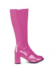 Botas cor-de-rosa em verniz para mulher