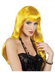 Peruca amarela comprida mulher