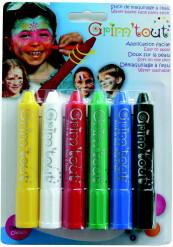 6 lápis retractáveis de maquilhagem Grim
