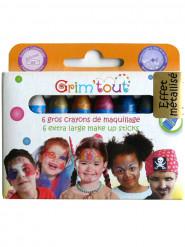 6 lápis de maquilhagem com cores metálicas Grim