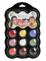 Palete de 9 cores de carnaval