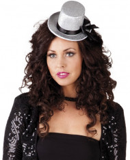 Mini-chapéu cizento para mulher