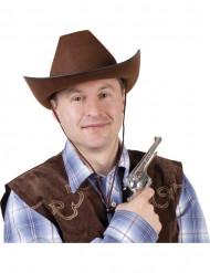 Chapéu cowboy castanho adulto