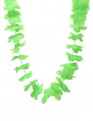 Colar de flores havaianas verdes
