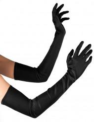 Luvas compridas cor preta