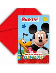 6 convites e envelopes Mickey Mouse™