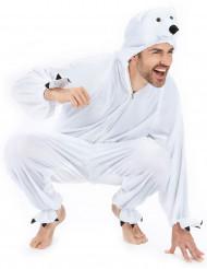 Disfarce de urso polar para adulto