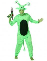 Disfarce alien verde homem