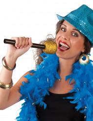 Microfone de cantora dourado