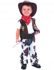 Disfarce de cowboy luxo menino