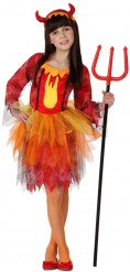 Disfarce rainha diabo menina Halloween