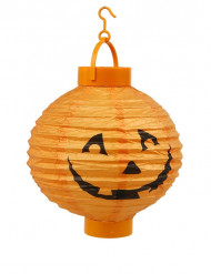 Lanterna LED abóbora laranja Halloween