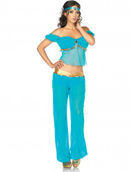 Disfarce dançarina oriental azul mulher