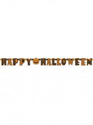 Grinalda articulada Halloween c cor de laranja e preta