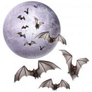 Lua e morcegos Halloween