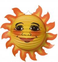 Balão de papel sol alegre