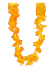 Colar havai flores cor de laranja