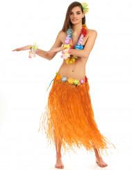 Saia havaiana cor de laranja adulto