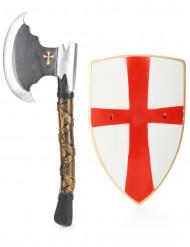 Kit cavaleiro escudo e machado