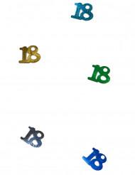 Confetis de mesa coloridos número 18