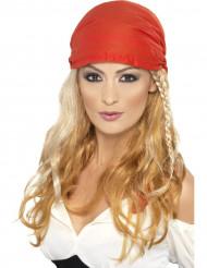 Peruca pirata loira e longa - mulher