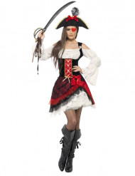 Disfarce de Pirata glamoroso para mulher