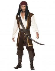 Disfarce pirata castanho homem