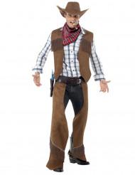 Disfarce cowboy homem com franjas