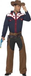 Disfarce cowboy estrela homem