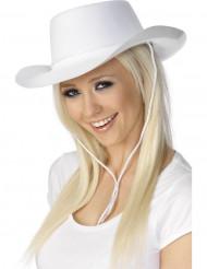 Chapéu cowboy branco adulto