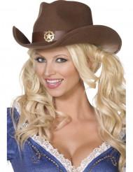 Chapéu de cowboy sherrif adulto