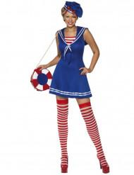 Disfarce marinheiro vestido mulher