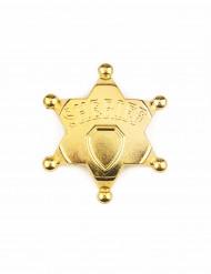 Estrela de xerife dourada adulto
