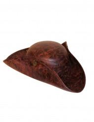 Chapéu de pirata castanho para adulto