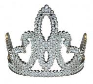 Tiara de princesa prateada