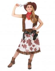 Disfarce cowgirl mulher