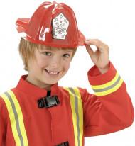 Capacete bombeiro vermelho criança