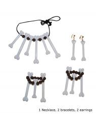 Conjunto de jóias canibais