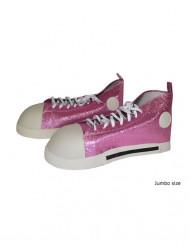 Sapatos cor-de-rosa palhaço